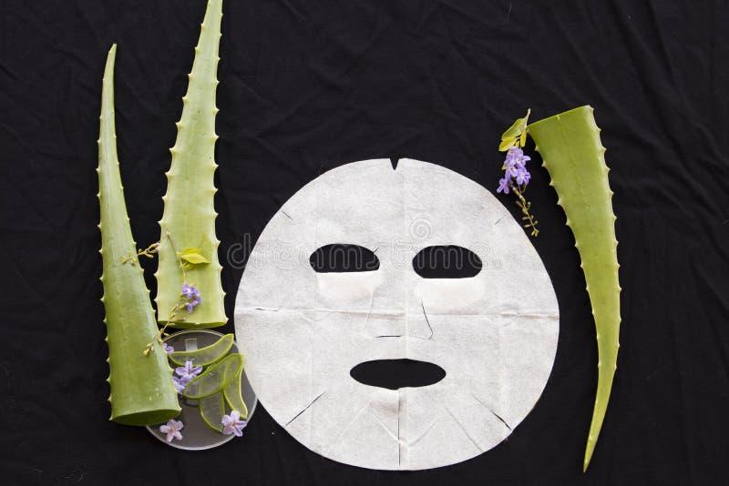Maschera naturale dello strato dell'aroma dal aleo di erbe vera immagini stock libere da diritti