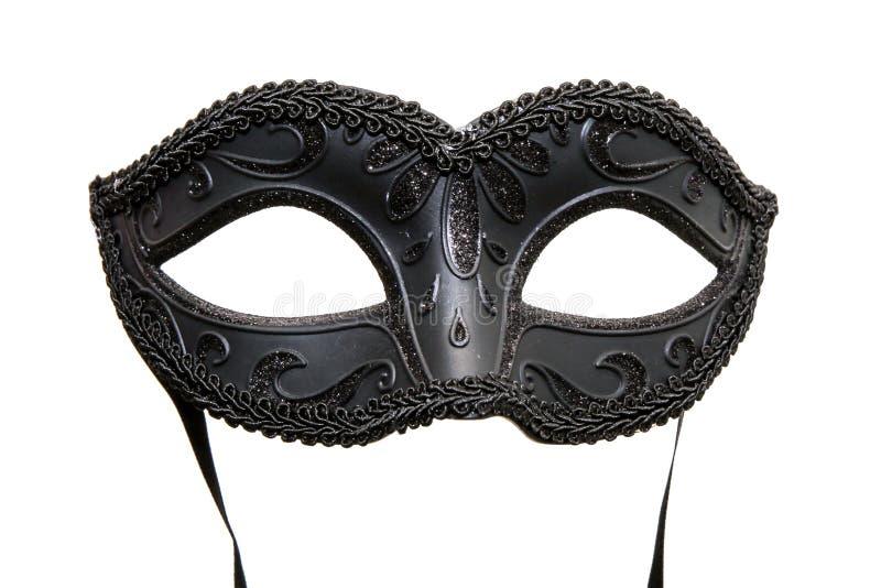 Maschera nera di carnevale immagini stock libere da diritti