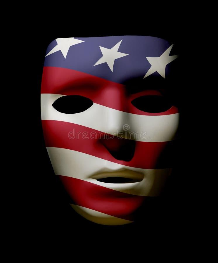 Maschera patriottica di U.S.A. illustrazione di stock