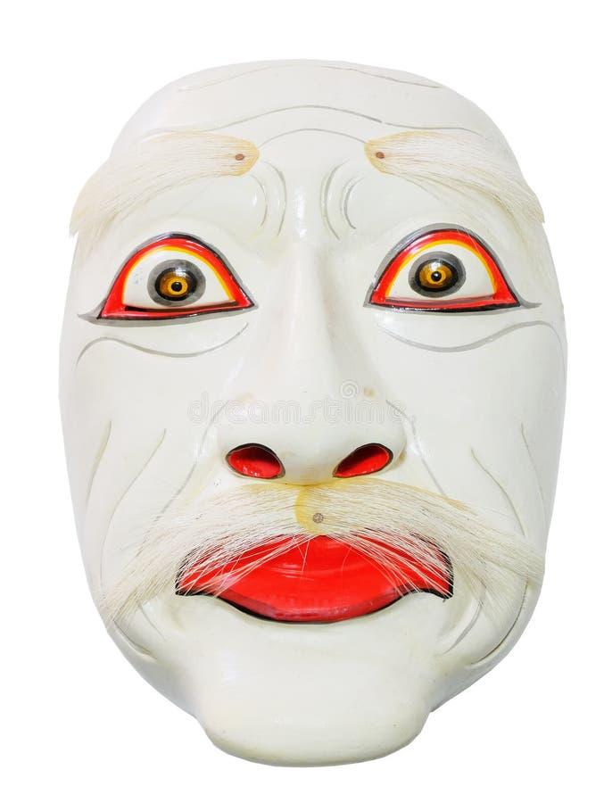 Maschera tradizionale cinese su fondo bianco fotografia stock