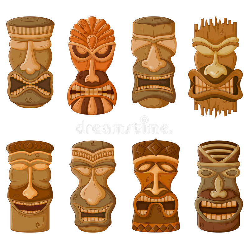 Maschera tribale di tiki del hawaiano illustrazione di for Tiki hawaiano