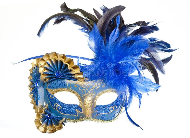 Maschera veneziana di carnevale con i carillon fotografia stock libera da diritti