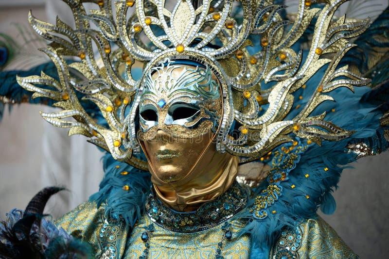 Maschera veneziana di carnevale a Venezia, Italia fotografie stock libere da diritti