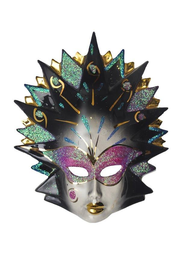 Maschera veneziana isolata fotografia stock