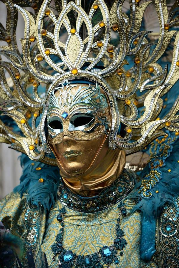 Maschera veneziana meravigliosa a Venezia, carnevale fotografia stock libera da diritti