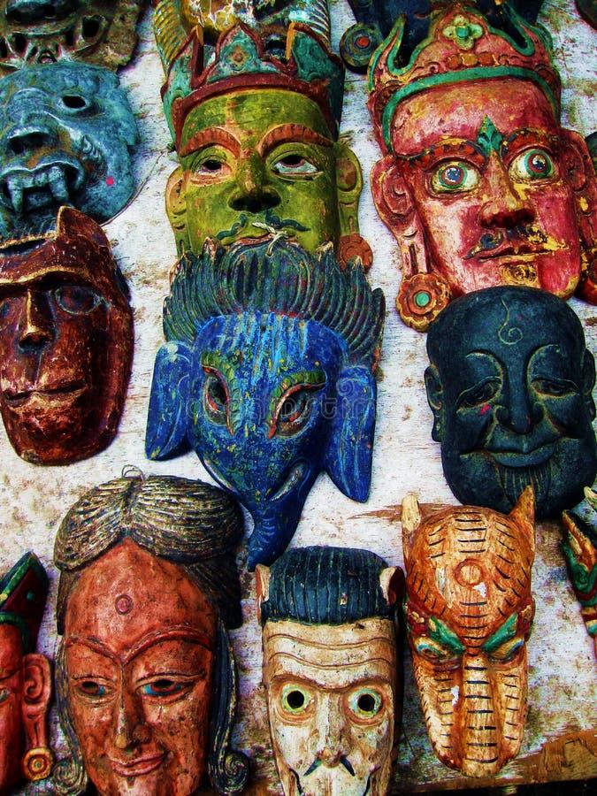 Maschere buddisti tibetane della divinità fotografia stock