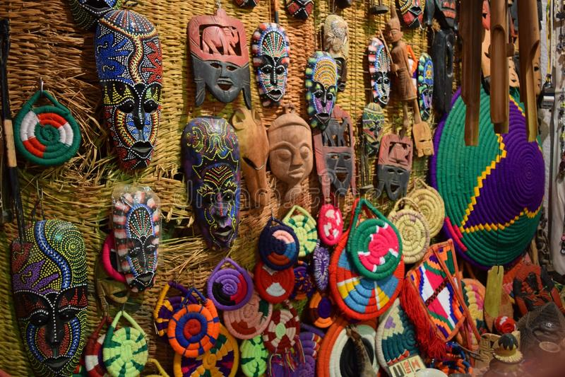 Maschere di Nubian immagine stock libera da diritti