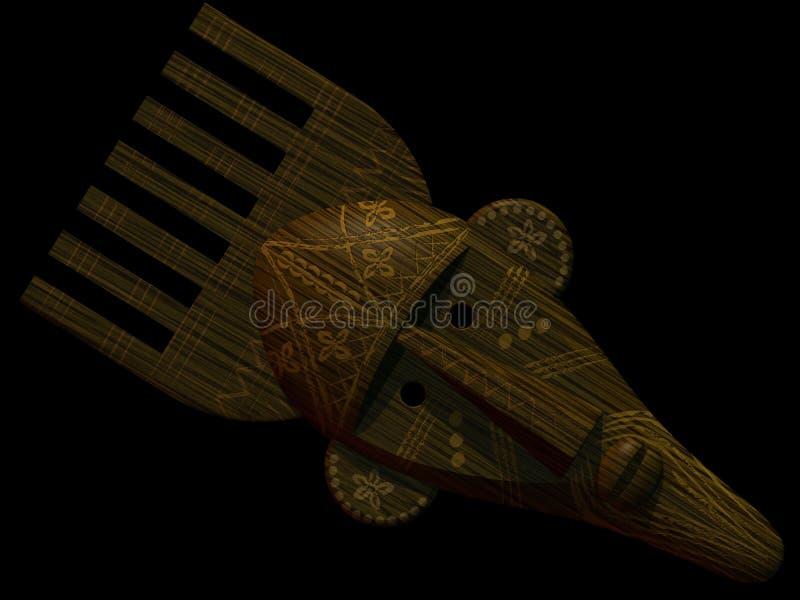 Mascherina africana rituale fotografia stock libera da diritti