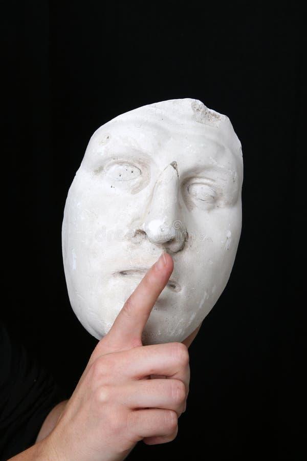 Mascherina bianca fotografie stock
