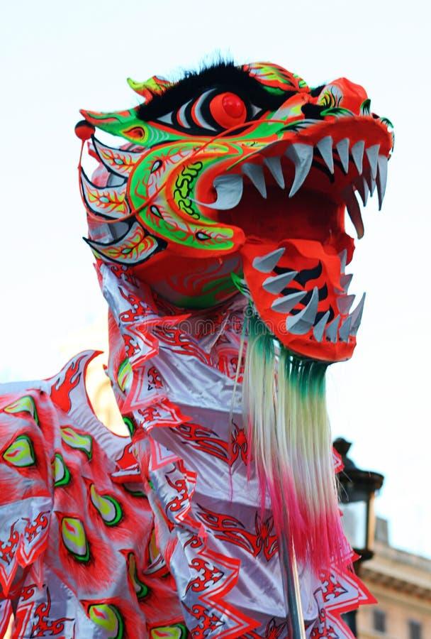 Mascherina cinese del drago fotografia stock