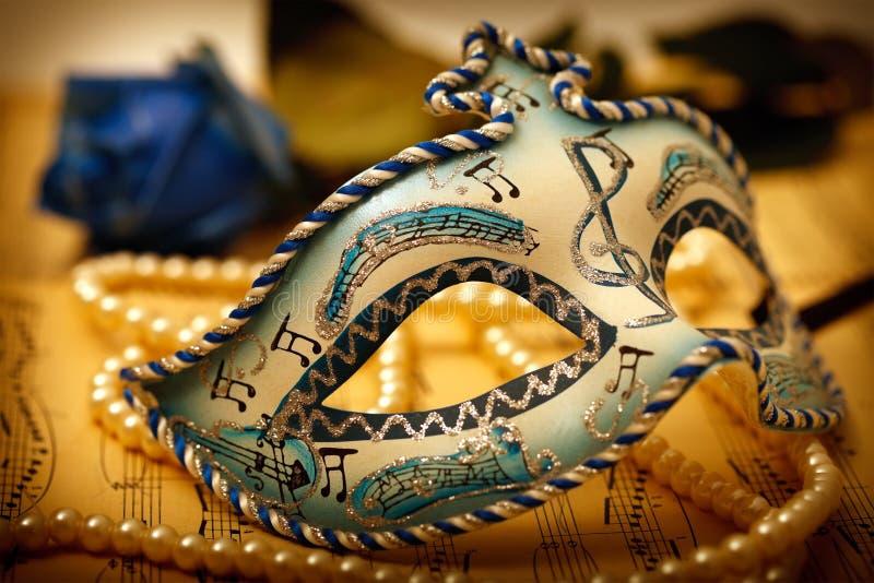 Mascherina decorata di carnevale fotografie stock libere da diritti