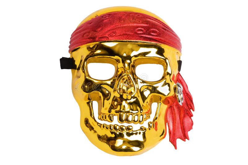 Mascherina del pirata del cranio fotografie stock libere da diritti