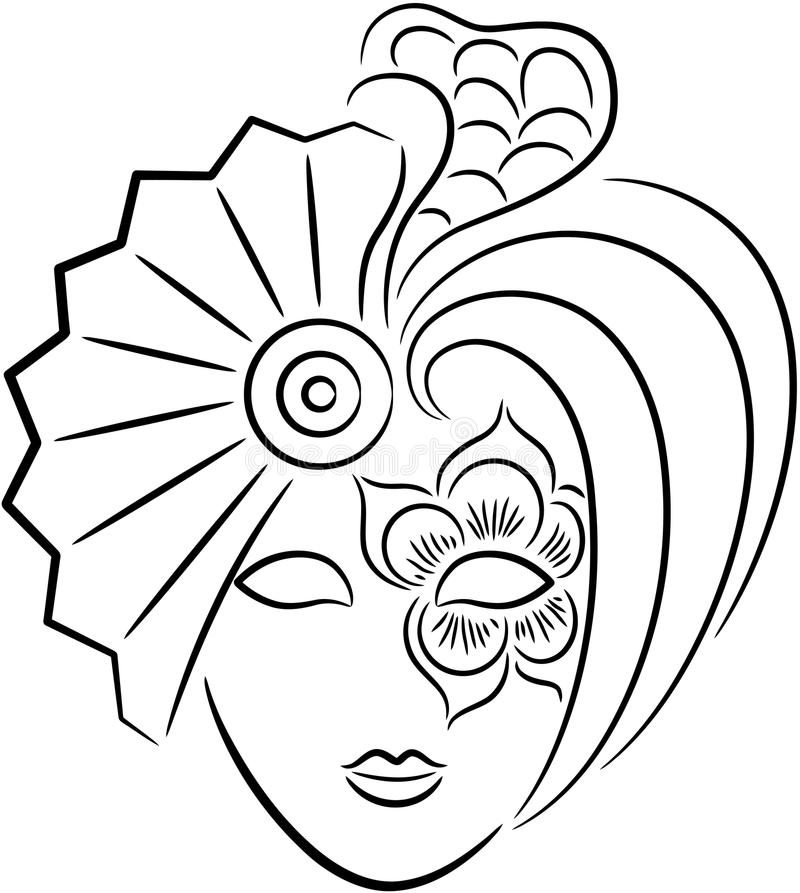 Mascherina di carnevale illustrazione vettoriale