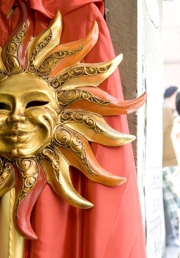 Mascherina di Sun a Venezia fotografie stock libere da diritti