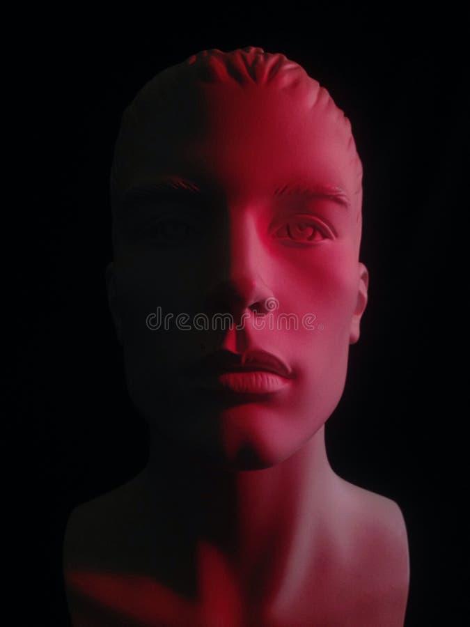 Mascherina rossa fotografia stock