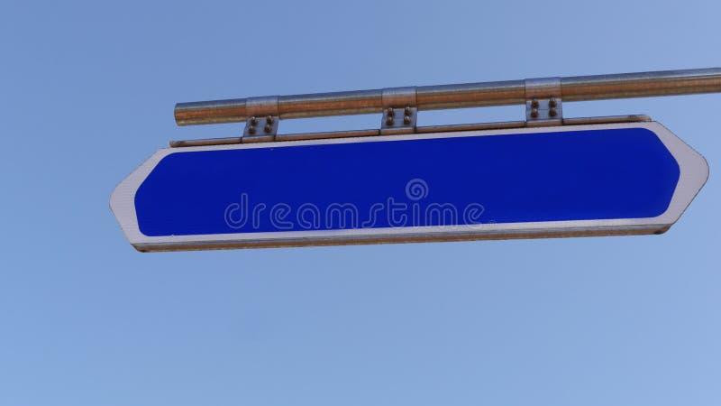 mascherina Segnale stradale blu con spazio vuoto immagine stock libera da diritti