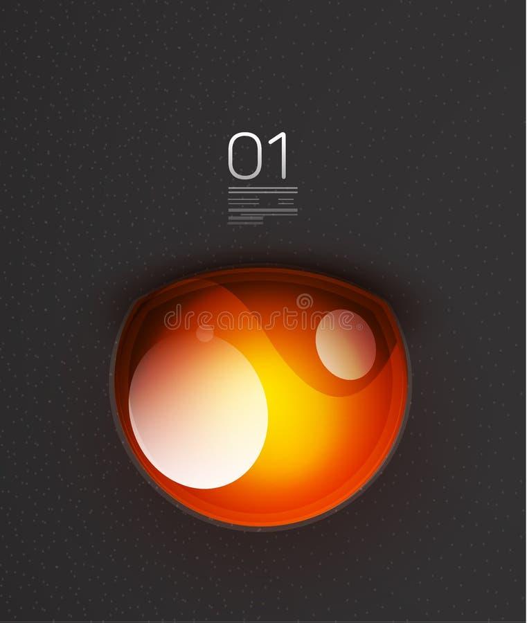 Mascherina stilizzata arancio di disegno della lampadina illustrazione vettoriale