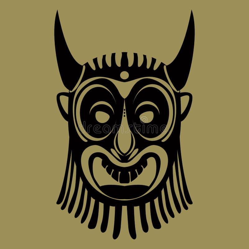 Mascherina tribale illustrazione di stock