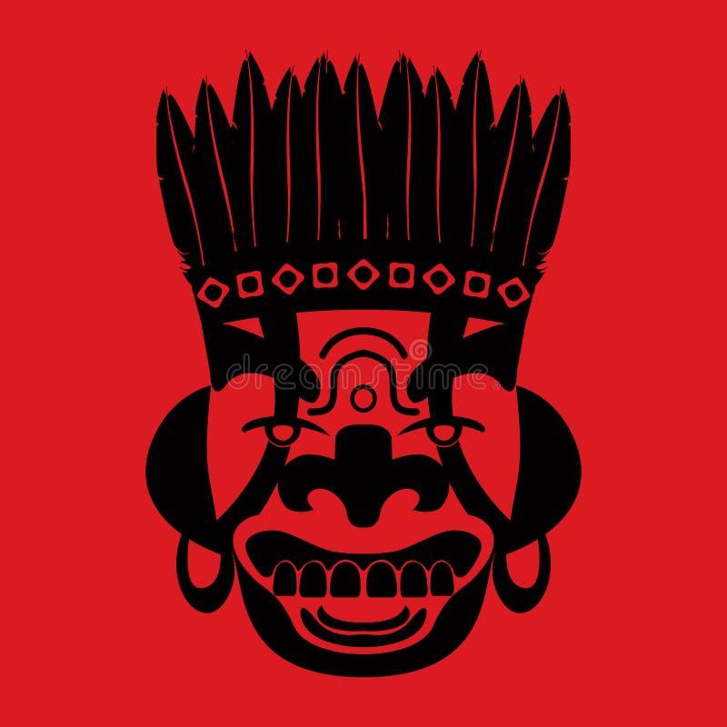 Mascherina tribale illustrazione vettoriale