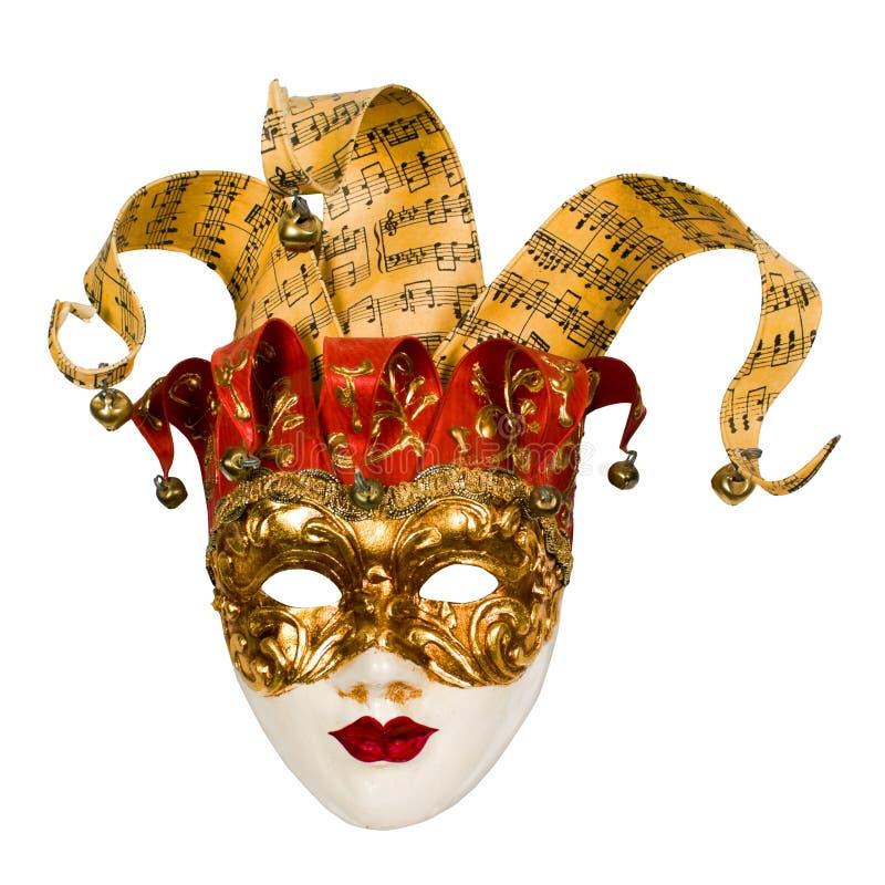 Mascherina veneziana di carnevale con i segnalatori acustici fotografia stock libera da diritti