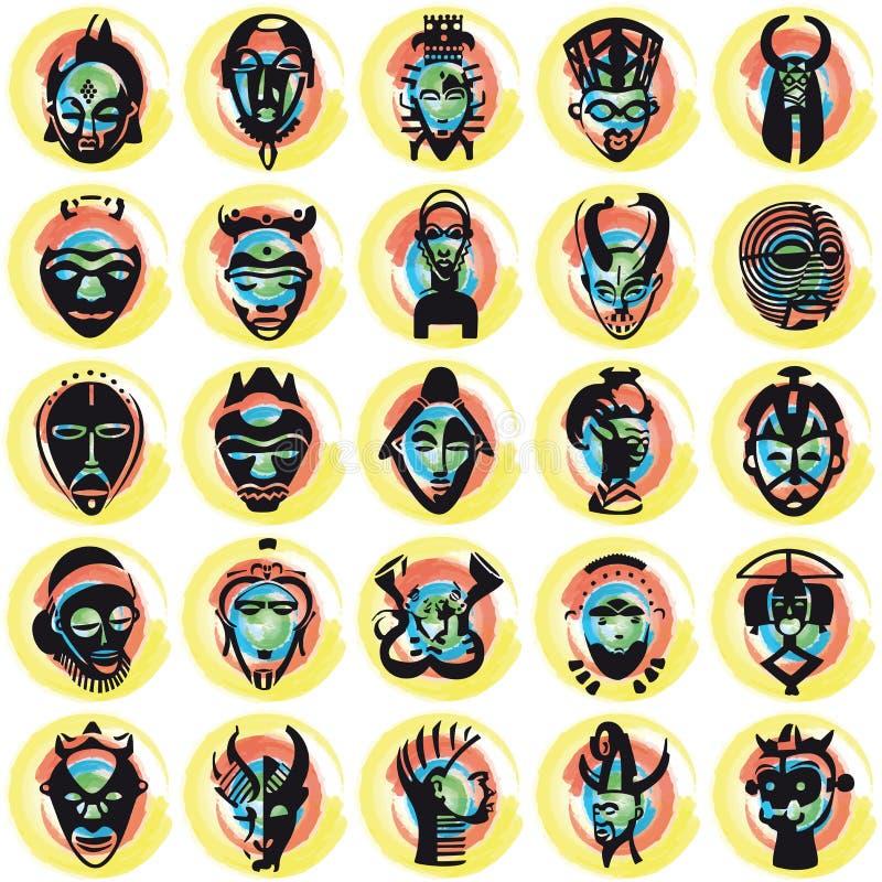 Mascherine africane illustrazione di stock