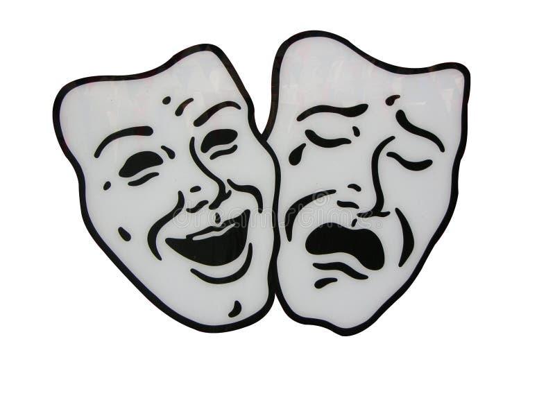 Mascherine del teatro fotografia stock libera da diritti