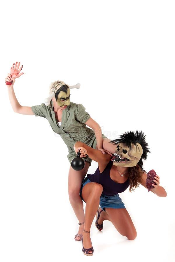 Mascherine delle donne di Halloween fotografie stock libere da diritti