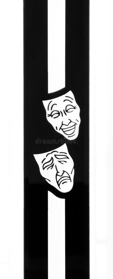 Mascherine di tragedia di commedia fotografie stock libere da diritti