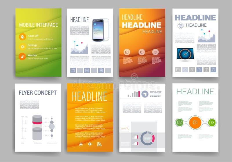 mascherine Insieme di progettazione del web, posta, opuscoli illustrazione di stock