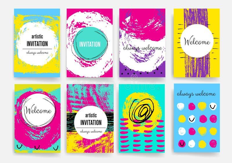mascherine Insieme di progettazione del web, posta, opuscoli Cellulare, tecnologia, concetto di Infographic illustrazione di stock