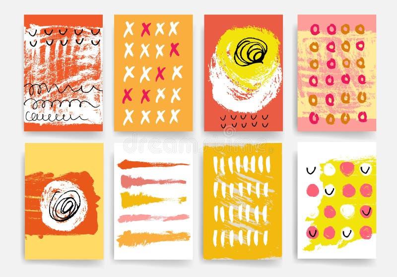 mascherine Insieme di progettazione del web, posta, opuscoli Cellulare, tecnologia, concetto di Infographic illustrazione vettoriale