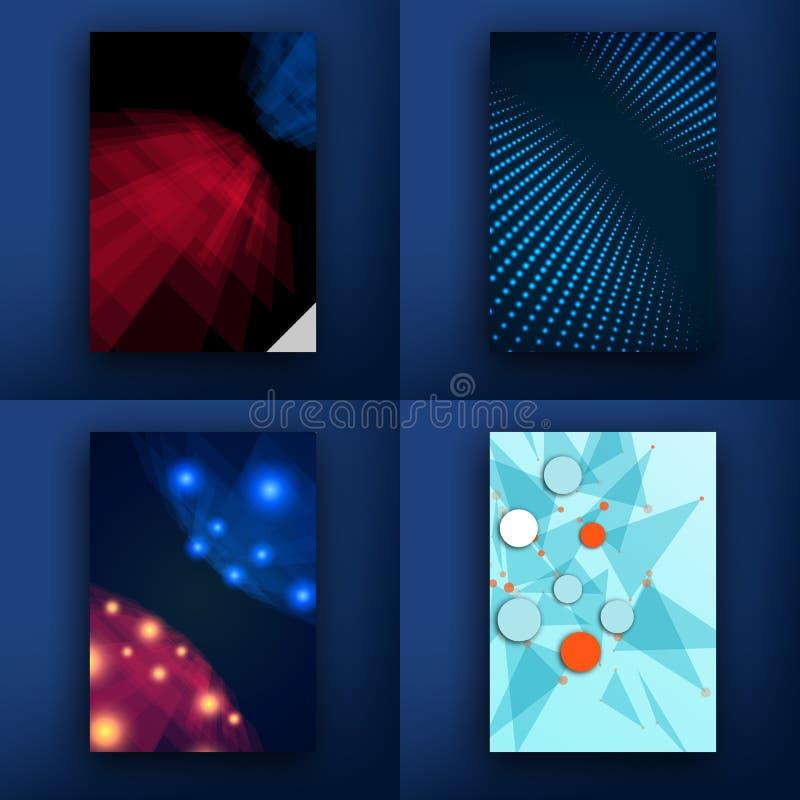 mascherine Insieme di progettazione del web, posta, opuscoli Cellulare, tecnologia e concetto di Infographic Piano e linea modern illustrazione vettoriale