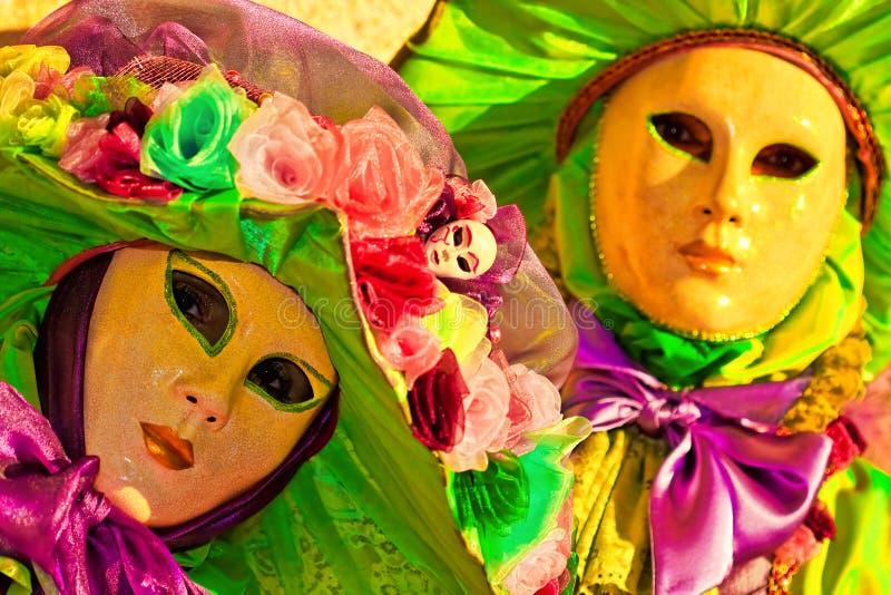 Mascherine a Venezia, Italia immagini stock