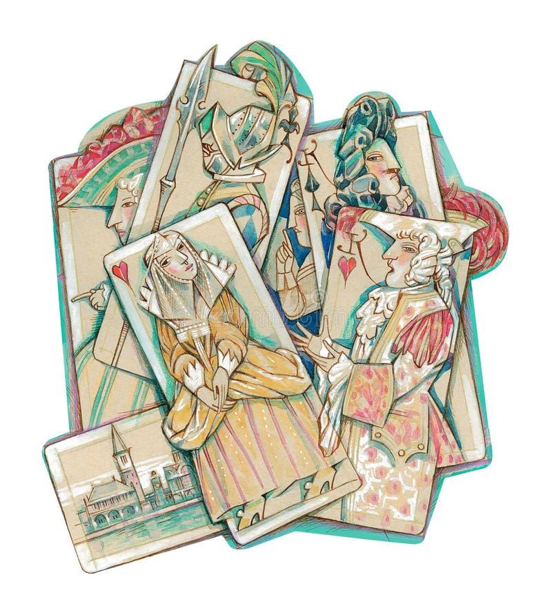 Mascherine veneziane illustrazione vettoriale