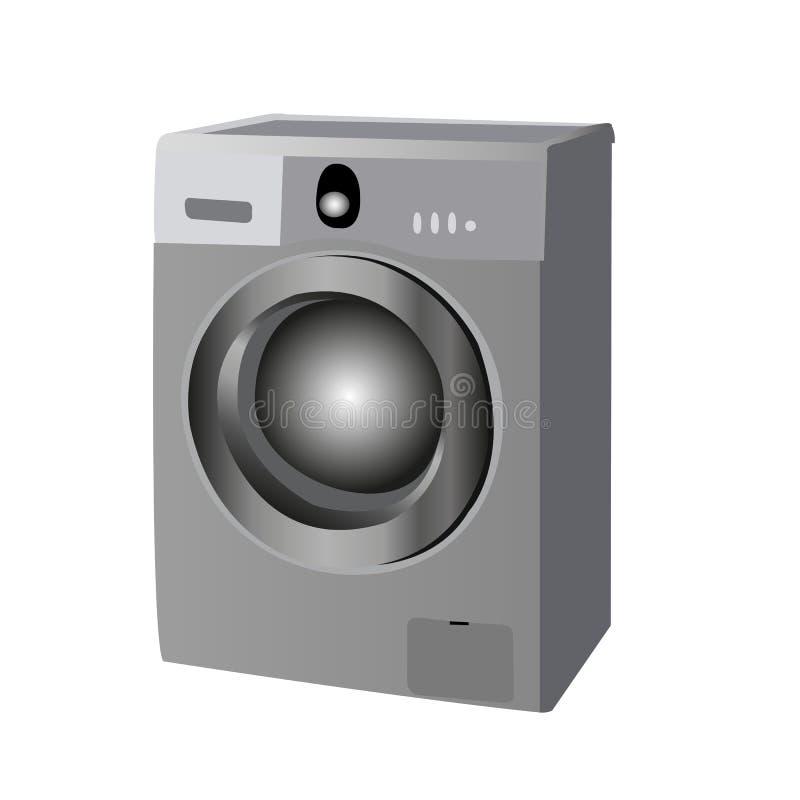Maschine del lavaggio per uso personale o commerciale illustrazione vettoriale