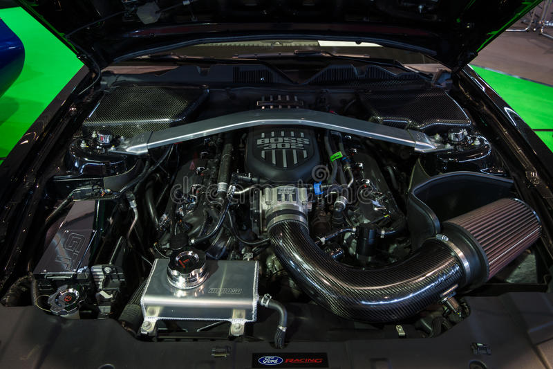 Maschine des ` Ford Mustangs GT Krieger ` U S Armee-Sonderausgabe, 2014 lizenzfreies stockfoto