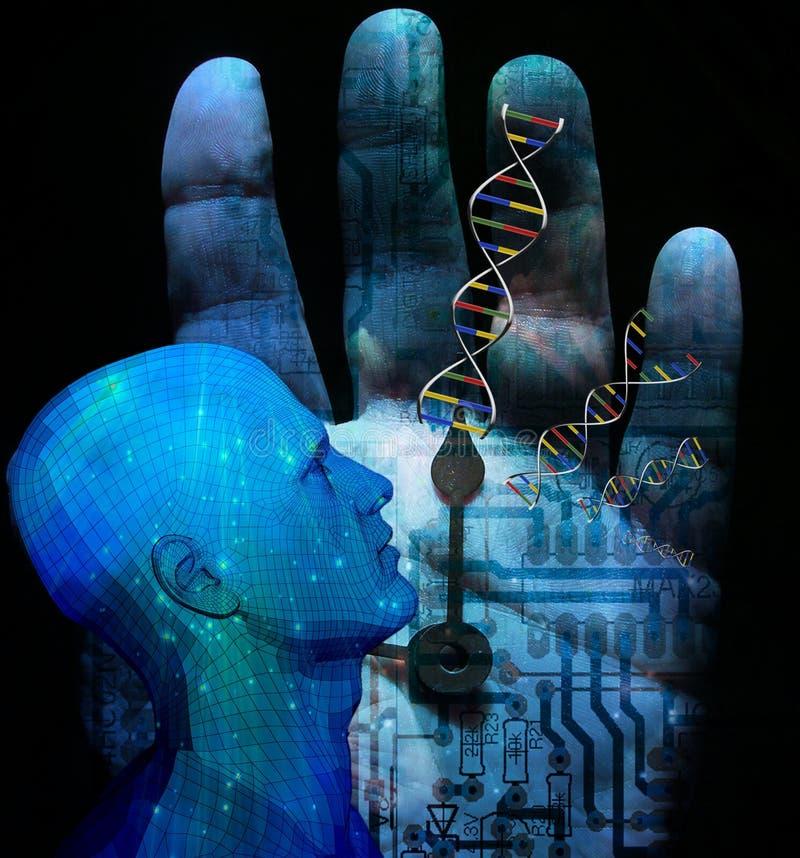 Maschine DNA lizenzfreie abbildung