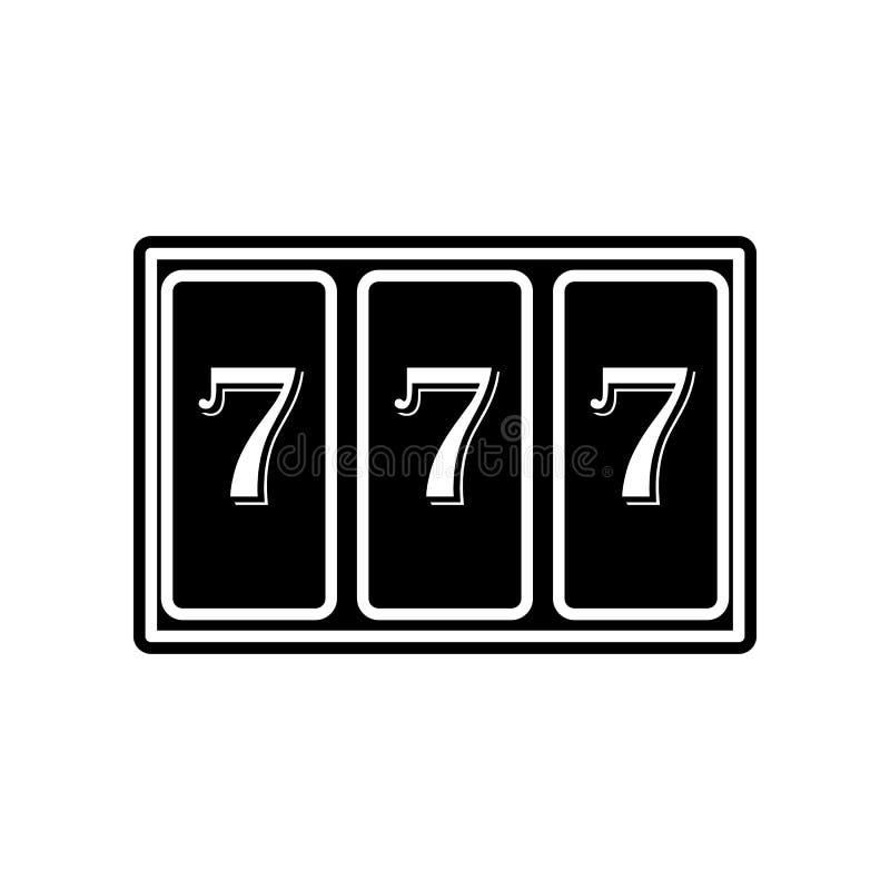 Maschine mit Ikone 777 Element des Kasinos f?r bewegliches Konzept und Netz Appsikone Glyph, flache Ikone f?r Websiteentwurf und  lizenzfreie abbildung