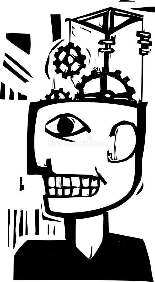 Maschinen-Verstand stock abbildung