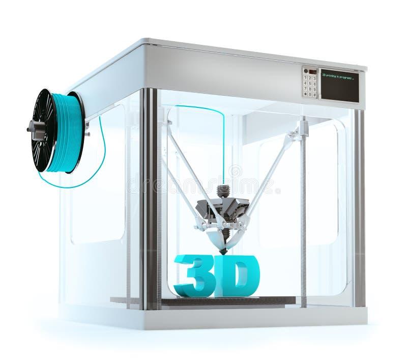 Maschinendrucken des Druckers 3D stock abbildung