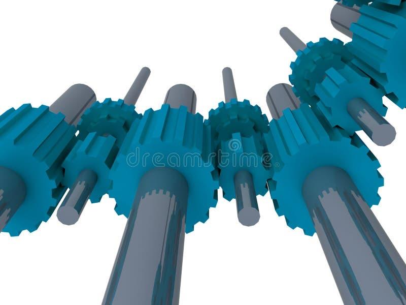 Maschinengänge vektor abbildung