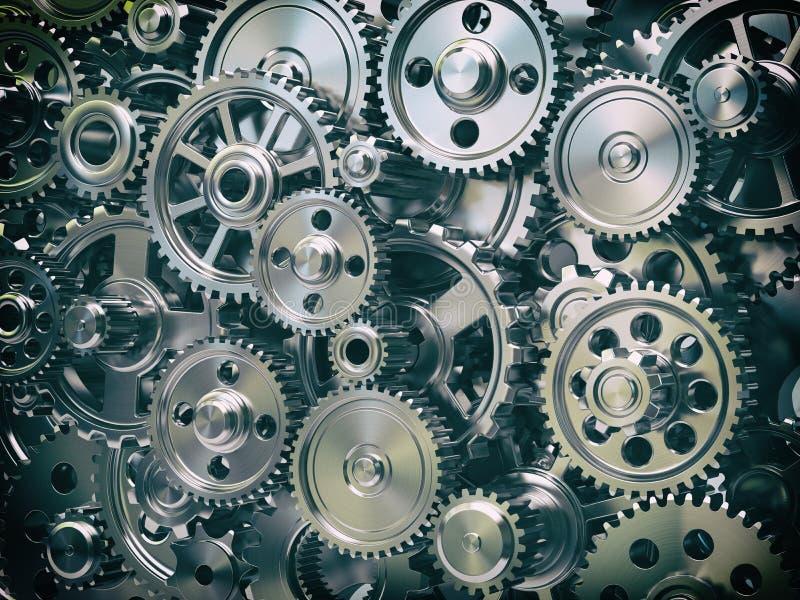 Maschinengangräder Industrieller und Teamwork-Konzepthintergrund lizenzfreie abbildung