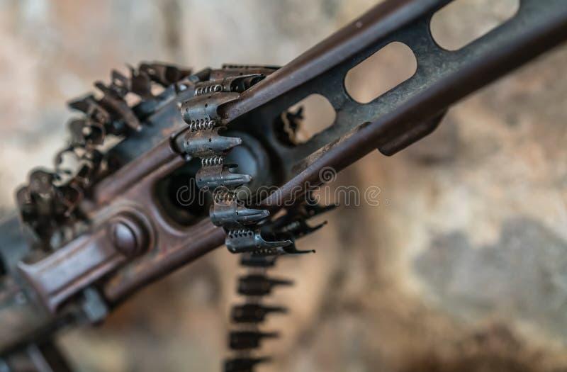 Maschinengewehr auf Anzeige stockfotografie