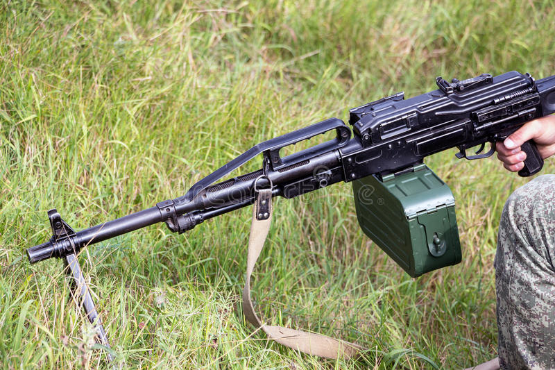 Maschinengewehr Pecheneg lizenzfreie stockfotografie