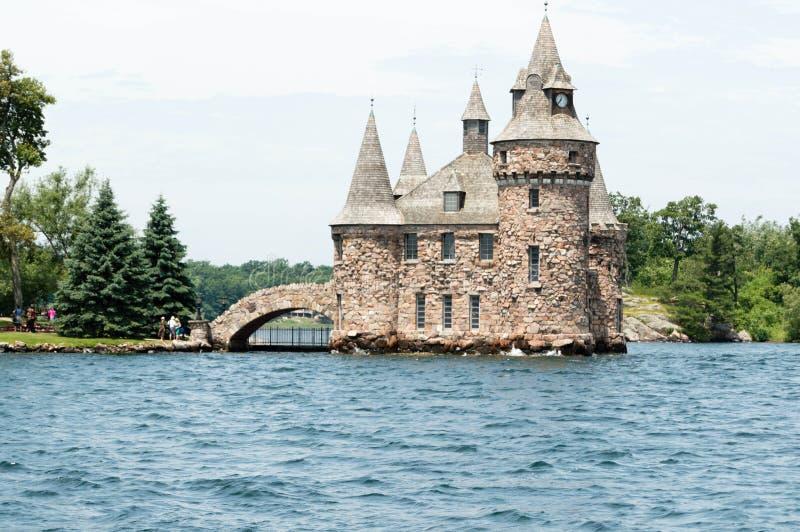 Maschinenhaus auf Herz-Insel, Alexandria Bay, New York lizenzfreies stockbild