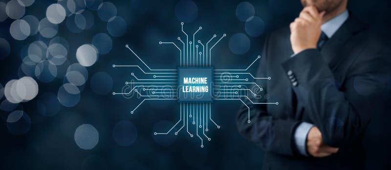 Maschinenlernkonzept lizenzfreies stockfoto