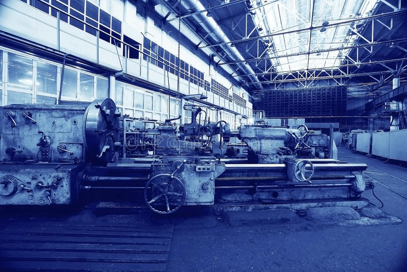 Maschinerie-Fabrik stockbild