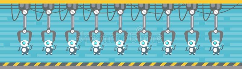 Maschinerie-industrielle Automatisierungs-Industrie der Roboter-Produktions-Förderer-vollautomatischen Fertigung lizenzfreie abbildung