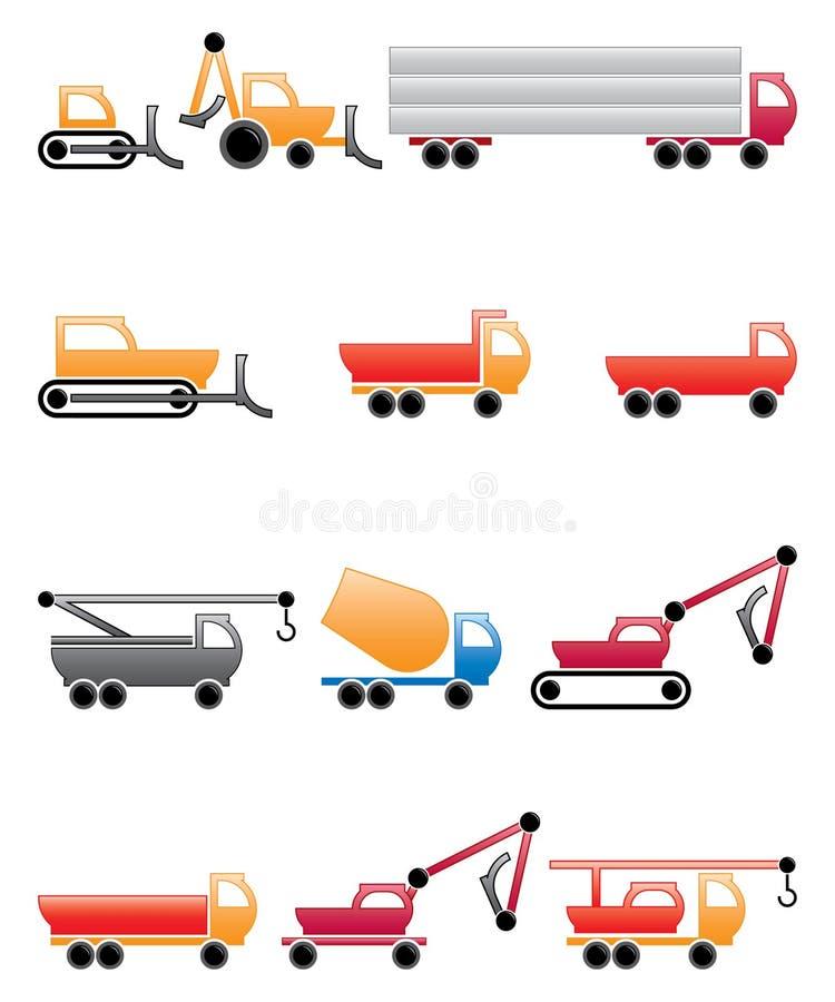 Maschines engraçados da construção ilustração do vetor
