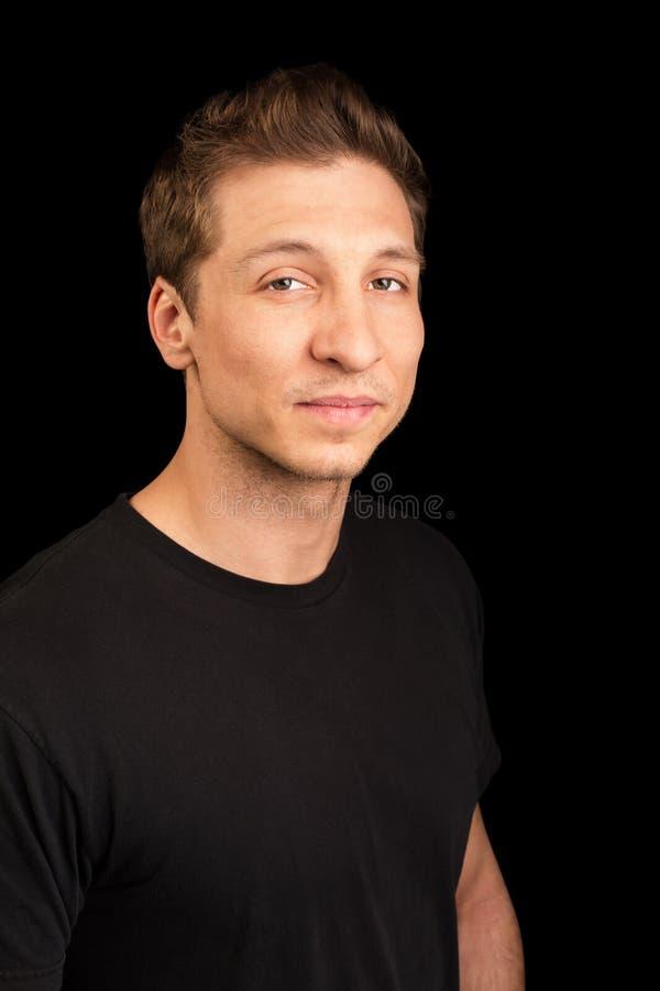 Download Maschio adulto nel nero fotografia stock. Immagine di sorridere - 30827592